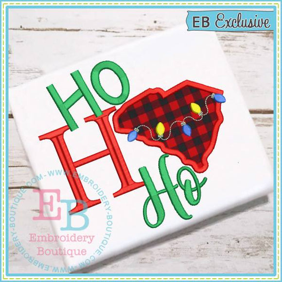 Ho Ho Ho South Carolina Applique, Applique