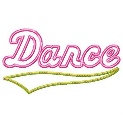 Dance Applique - embroidery-boutique
