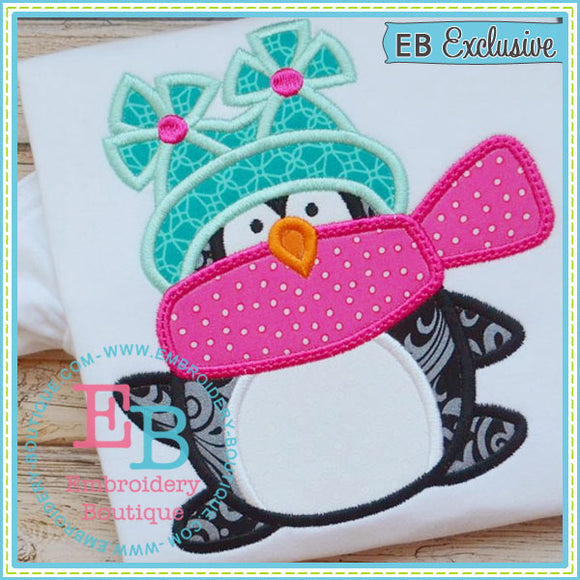 Winter Penguin Applique - embroidery-boutique