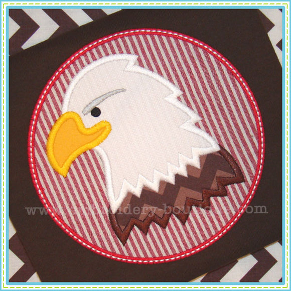 Bald Eagle Patch Applique, Applique