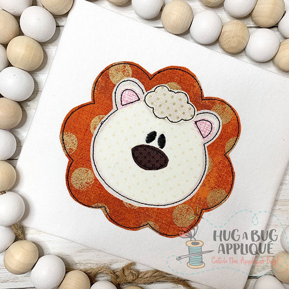 Lion Bean Stitch Applique-Embroidery Boutique