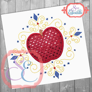 Apple Princess Frame, Applique