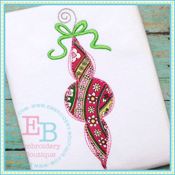 Scribble Single Ornament - embroidery-boutique