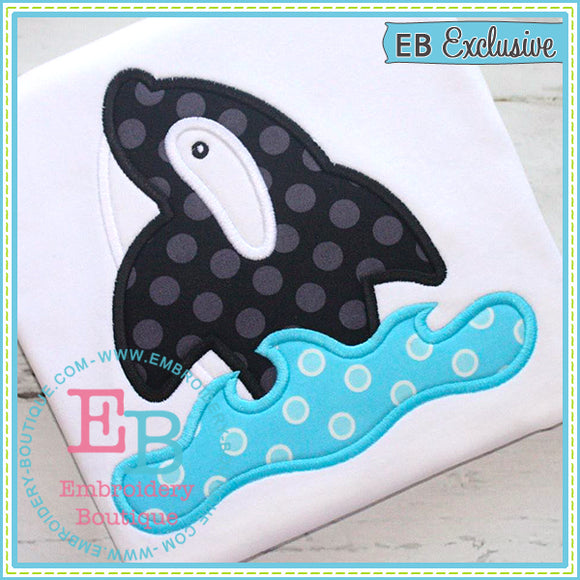 Orca Whale Applique - embroidery-boutique