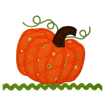 Festive Pumpkin Applique - embroidery-boutique