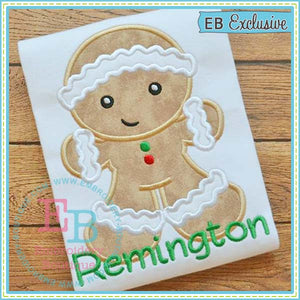 Gingerbread Boy Applique - embroidery-boutique