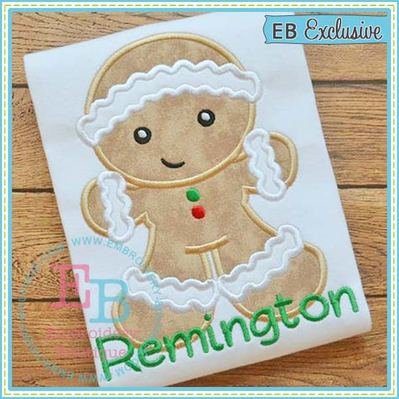 Gingerbread Boy Applique