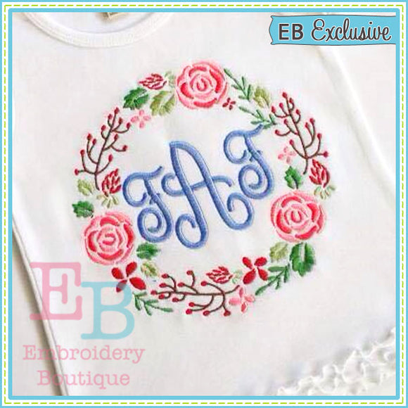 Chic Wreath Design, Embroidery
