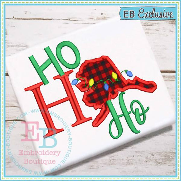 Ho Ho Ho Alaska Applique - embroidery-boutique