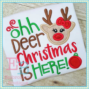 Oh Deer Girl Applique, Applique