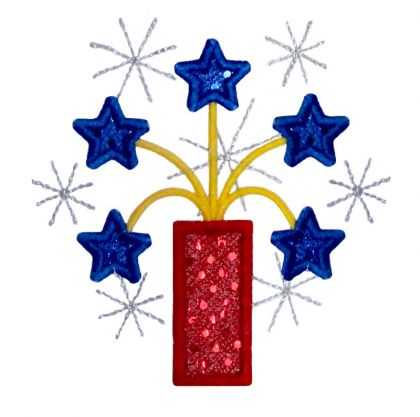 Star Firework Applique - embroidery-boutique