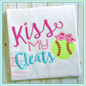 Kiss My Cleats Applique - embroidery-boutique