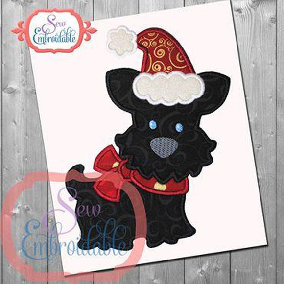 Christmas Scotty Applique - embroidery-boutique