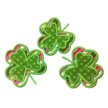 Three Layered Shamrocks - embroidery-boutique