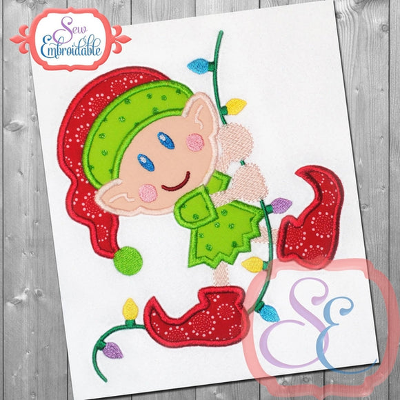 Light Swinging Elf Applique