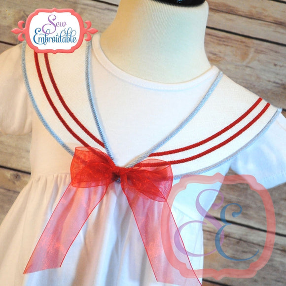 Faux Sailor Collar Front