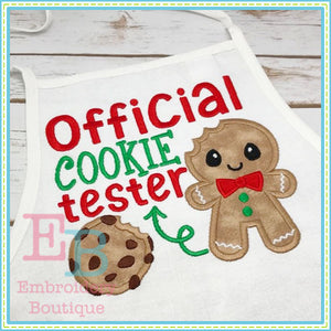 Official Cookie Tester Applique, Applique