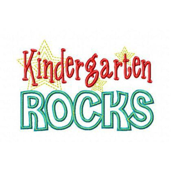 Kindergarten Rocks - embroidery-boutique