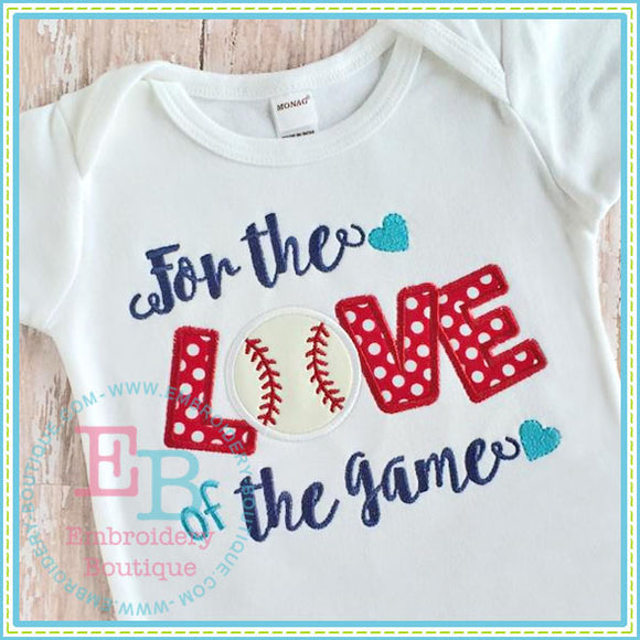 For the Love Applique