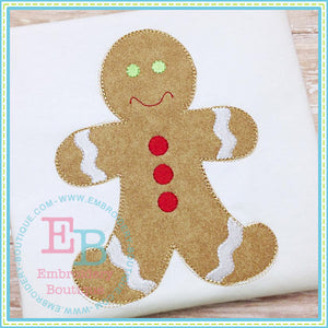 Scribbles Gingerbread Boy - embroidery-boutique