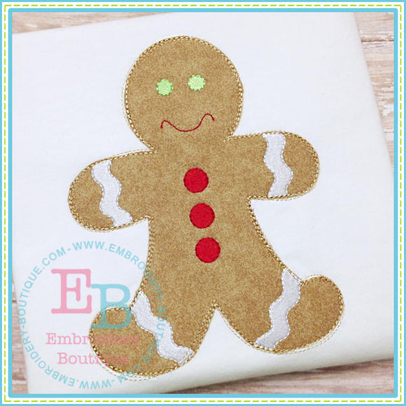 Scribbles Gingerbread Boy, Applique