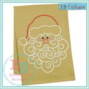 Sketch Swirly Beard Santa Embroidery Design - embroidery-boutique