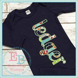 Summer Applique Alphabet