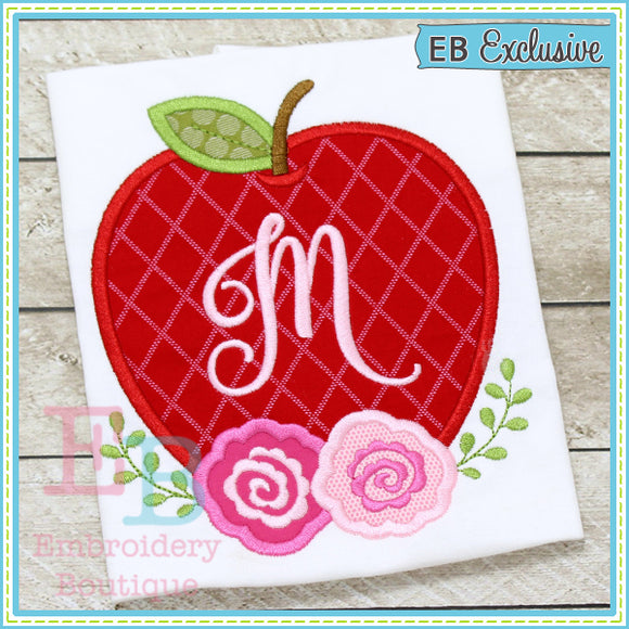 Apple Roses Applique, Applique