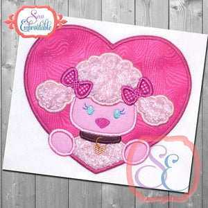 Poodle Heart Applique