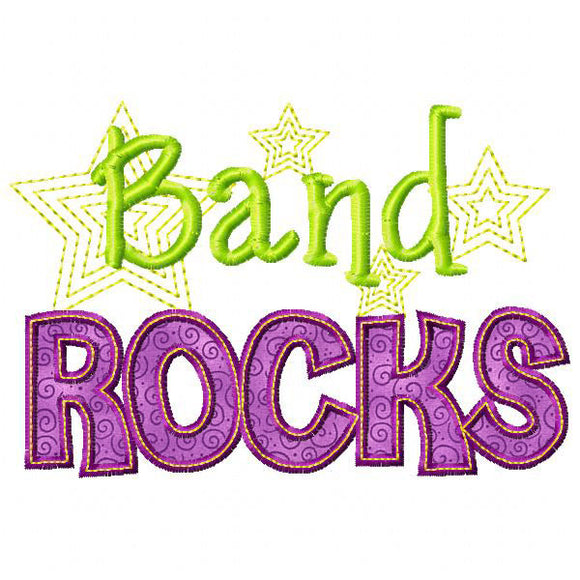 Band Rocks Applique, Applique