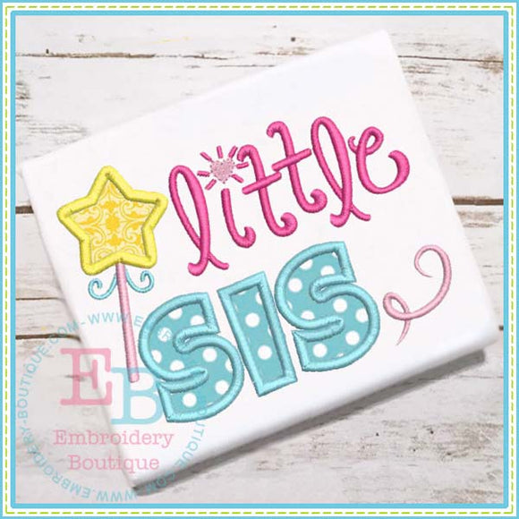 Little Sis Wand Applique - embroidery-boutique