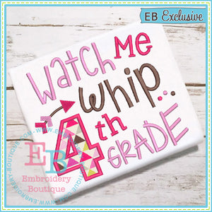 Watch Me Whip 4th Applique - embroidery-boutique