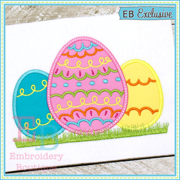 Decorative Eggs Applique, Applique