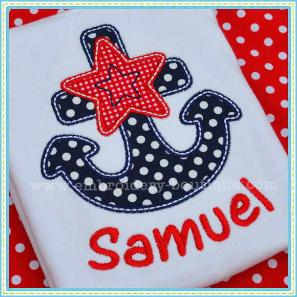 Star Anchor Applique - embroidery-boutique