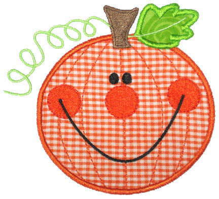 Happy Pumpkin Applique - embroidery-boutique