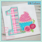 Cupcake Applique Numbers - embroidery-boutique