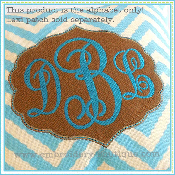 Striped Lexi Monogram Alphabet, Embroidery