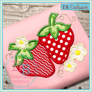 Strawberries Applique - embroidery-boutique