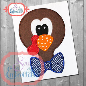 Turkey Boy Head Applique, Applique