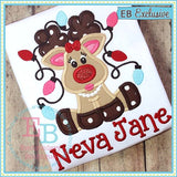 Tangled Girl Deer Applique