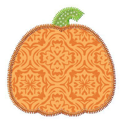 Simple Pumpkin Applique - embroidery-boutique