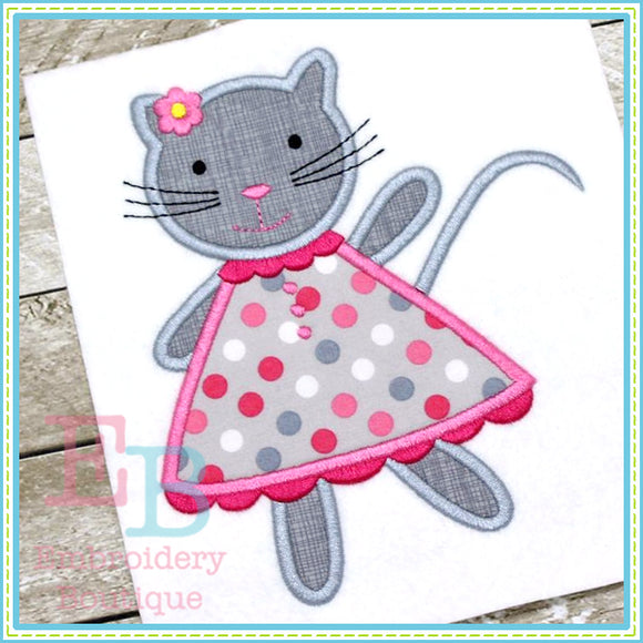 Cat Dress Applique, Applique