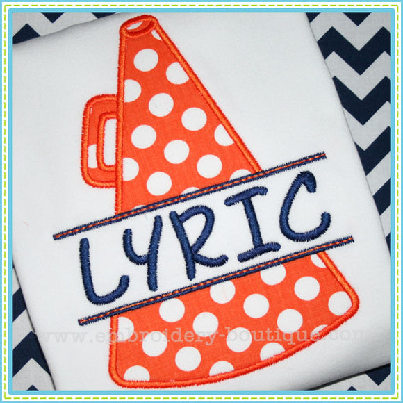 Split Megaphone Applique - embroidery-boutique