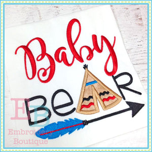 Baby Bear Embroidery Design, Embroidery