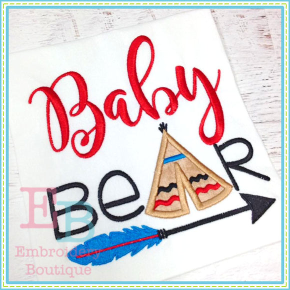 Baby Bear Embroidery Design - embroidery-boutique