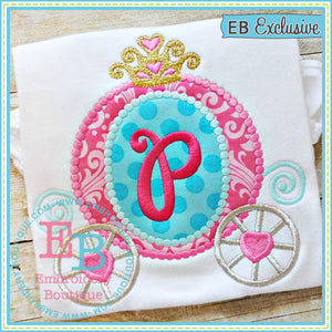 Dotted Princess Carriage Applique - embroidery-boutique