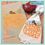 Swirled Pumpkin Embroidery Design - embroidery-boutique