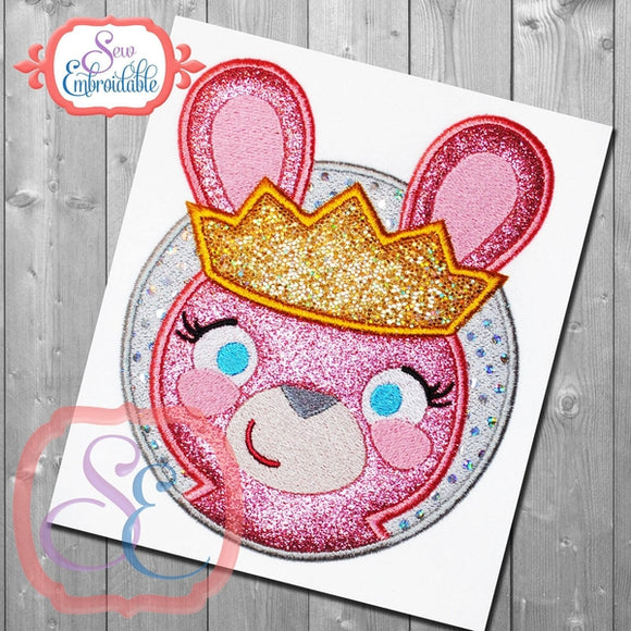Princess Bunny Applique