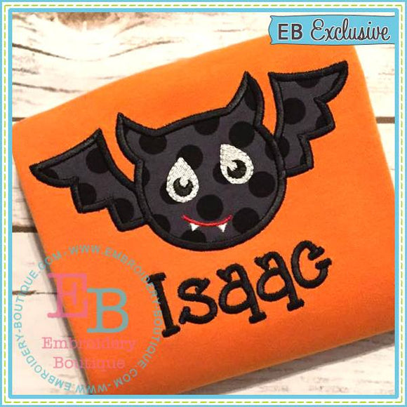 Silly Boy Bat Applique - embroidery-boutique