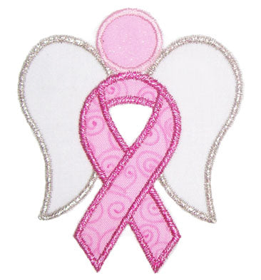 Awareness Ribbon Angel Applique - embroidery-boutique